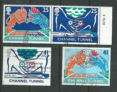 Great Britain 1994 OPENING OF THE CHANNEL TUNNEL SET of 4  , good used