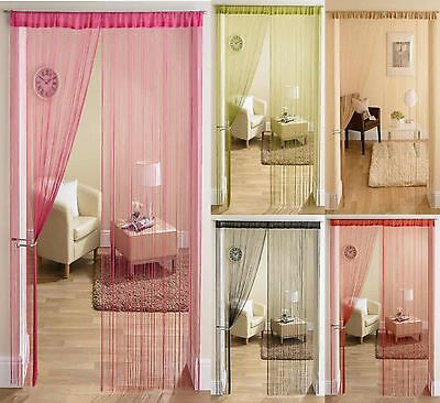 STRING DOOR CURTAIN PANEL DIVIDER 90cm x 200cm ALL COLOURS CAN BE CUT TO SIZE