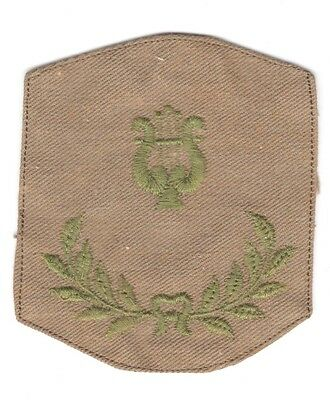 Army Chevron:   Assistant Band Leader - WWI era, embroidered on twill