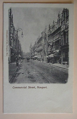 CHRISTOPHERS & SON Postcard c.1905 COMMERCIAL STREET NEWPORT MONMOUTHSHIRE WALES