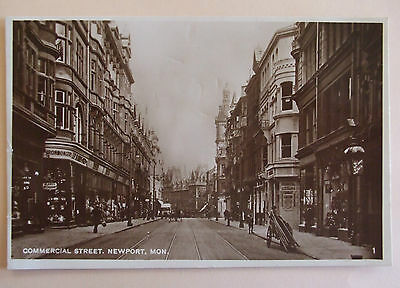 RP Postcard POSTED 1927 COMMERCIAL STREET NEWPORT MONMOUTHSHIRE WALES