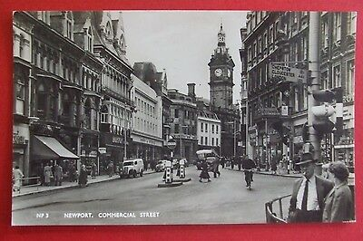 RP Postcard POSTED 1960 COMMERCIAL STREET NEWPORT MONMOUTHSHIRE WALES