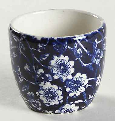 Staffordshire CALICO BLUE (BURLEIGH STAMP) Egg Cup 1980316