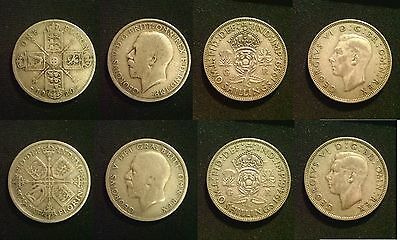 GEORGE V & VI FLORIN SILVER 1920 - 1946 Choice of Date supplied in coin wallet