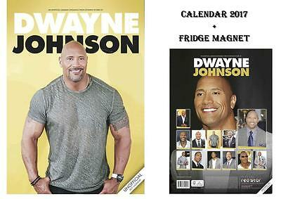 Dwayne Johnson Calendar 2017 + Dwayne Johnson Fridge Magnet