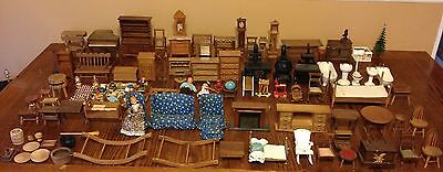 Dollhouse Furniture Wholesale Lot Collection Vintage Wood Wooden Ceramic Metal