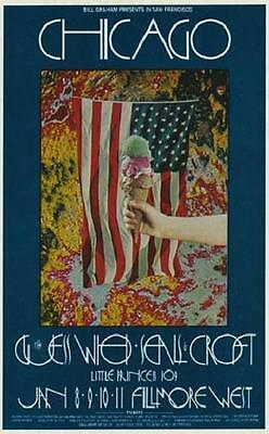 Chicago POSTER The Guess Who Seals & Crofts Fillmore BG211 David Singer