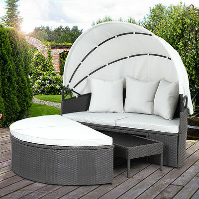 sonnenliege rattan gartenliege lounge gartenlounge doppelliege 40460 s eur 192 99 picclick de. Black Bedroom Furniture Sets. Home Design Ideas