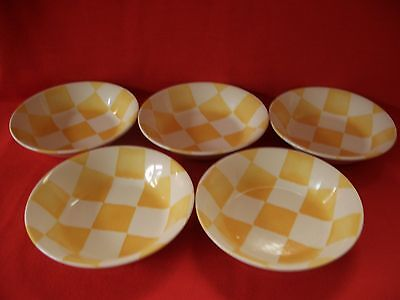 """5 Royal Stafford Painterly Affects ~ Chequers ~ 6 3/4"""" Cereal/dessert Bowl"""