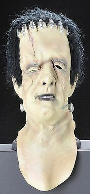 Vintage Frankenstein Mask 1978 Universal Studios Zipper Back w Hair Adult Cospla