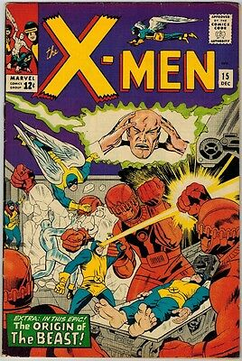 Uncanny X-Men 15 (1965) F/VF Origin of Beast!