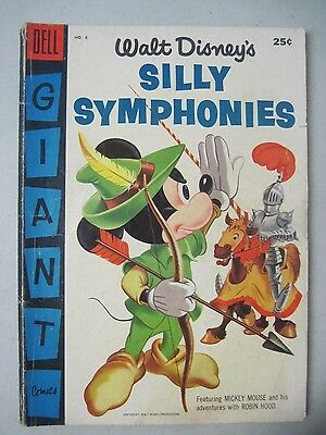 Walt Disney's Silly Symphonies #6 Dell Giant Comic 1956 Mickey Mouse Robin Hood