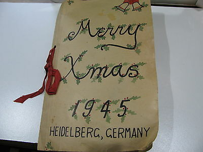 Wwii Heidelberg Germany Merry Xmas 1945 Collection 60 Love Letters Sgt.h.a.hieke