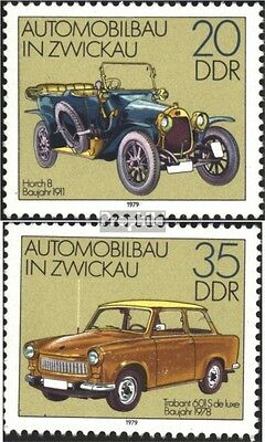 DDR 2412-2413 (complete.issue) unmounted mint / never hinged 1979 Automotive