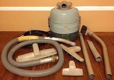 General Electric V13C1 Vintage Canister Vacuum Cleaner Set w/ Accessories