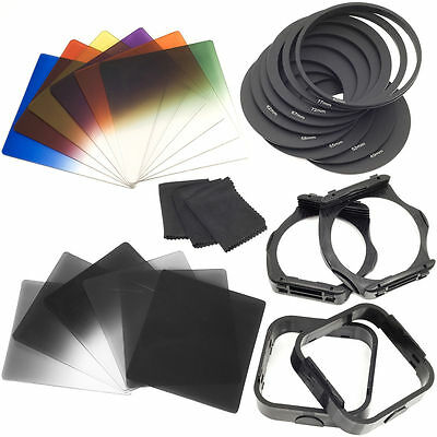 25 in 1 Graduated Neutral Density ND Color Filter Set Holder for Cokin P LF142