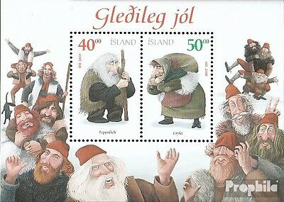 Iceland block28 mint never hinged mnh 2000 christmas