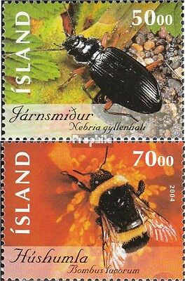 Iceland 1075-1076 mint never hinged mnh 2004 Insects and spiders