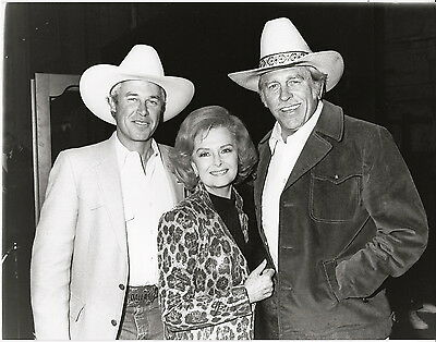 Donna Reed, Howard Keel ~ ORIGINAL 1985 portrait for television... DALLAS