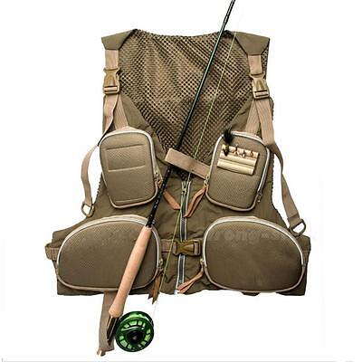 Outdoor Pocket Fly Fishing Quick Dry Mesh Vest Super Light Handy New Arrival