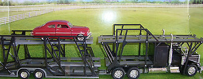 G-Scale 1/32  Freightliner Automobile Transporter Truck & Trailer Holds 7 Cars