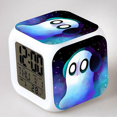 Game Undertale Theme LED Night Light Alarm Clock Timing Gift New Year Presents