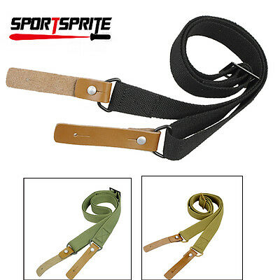 Tactical Outdoor Adjustable Rifle Gun Sling Strap Lanyard For Gun Backpack Bags