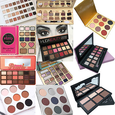 New 12-Colors Professional Matte Shimmer Eyeshadow Palette Makeup Set with Brush