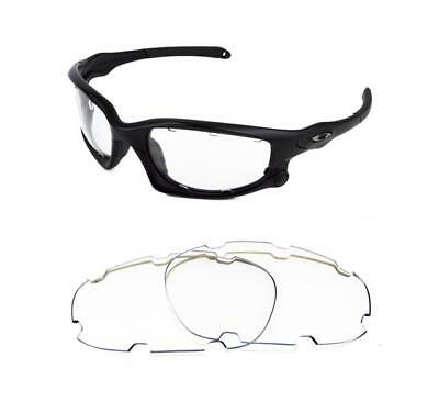 New Replacement Clear Vented Lens For Oakley Split Jacket Sunglasses