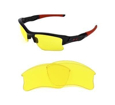 New Replacement Night Vision Yellow Xlj Lens For Oakley Flak Jacket Sunglasses