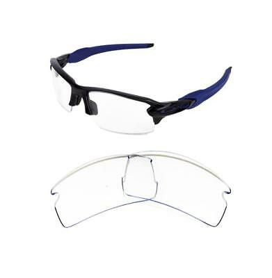 New Replacement Clear Lens For Oakley Flak Jacket 2.0 Sunglasses
