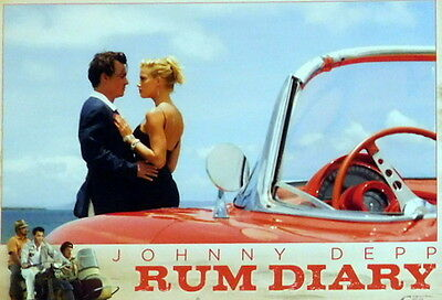 Johnny Depp RUM DIARY lobby cards 4 original vintage stills 2011