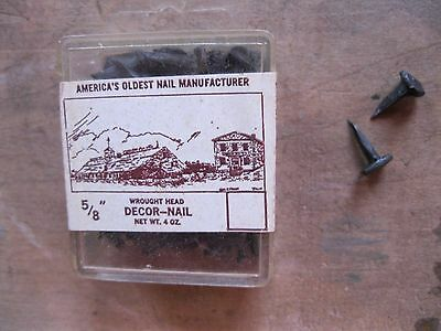 Primitive Rose Head Wrought Black Iron Nails Tremont Nail 5/8 Box of 73