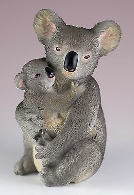 """Koala Mother and Baby Figurine 4.25"""" High Polystone New In Box"""