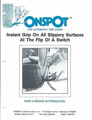 Truck Accessory Brochure - Onspot - Automatic Snow Tire Chain (T1934)