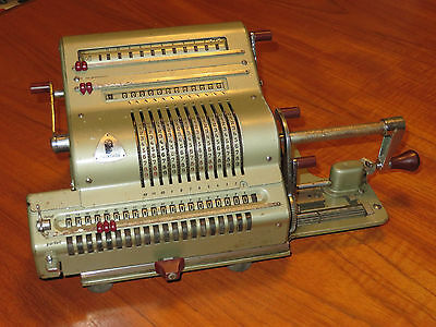 OLD MECHANICAL BRUNSVIGA CALCULATOR, 1950s, PERFECT WORKING ORDER.