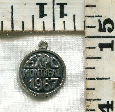 Vintage Sterling Bracelet Charm~#80633~1967~Montreal Expo~Want It?~$12.00!!!