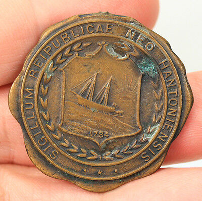 Antique The Whitehead & Hoag Co New Hampshire State Seal Medal