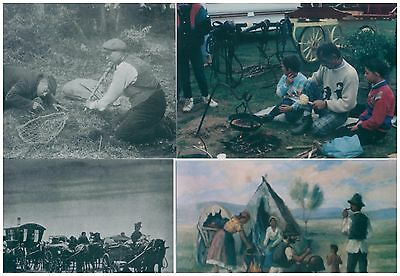 15 postcards traditional Romani Gypsy Traveller scenes work and leisure vardos