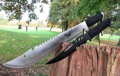 2er Machete+ Messer Knife Bowie Buschmesser Coltello Hunting Macete Machette NEU