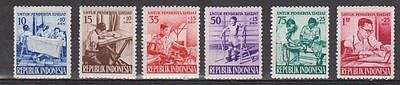Indonesia 1957  Invalid Releif  Set Of 6   (Mh)