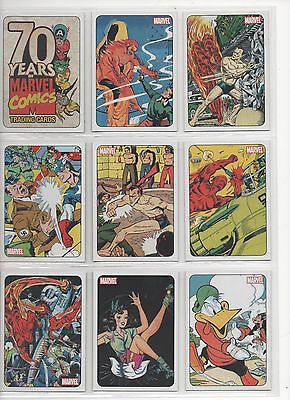 Rittenhouse 2010 Marvel 70Th Anniversary Full 72 Card Base Set
