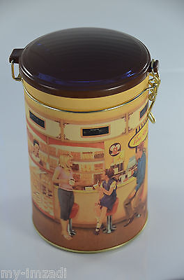 "#001 TIM HORTONS Limited Edition Coffee TIN CANISTER ""Gathering Place"" Vintage"