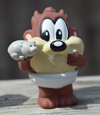 Vintage 2003 BABY LOONEY TUNES TAZ Tazmanian Devil with Pet Hamster Fisher Price
