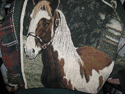Sugar Street Weavers HORSE Jacket Woven Tapestry Paint Palomino Country Western