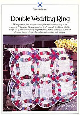 Double Wedding Ring Quilt, Circles & Curves quilt sewing pattern & templates