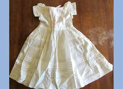 antique BABY/TODDLER HAND MADE DRESS needlework CHRISTENING doll clothes