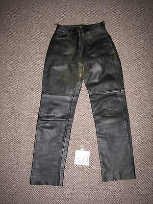FIRST LEATHER APPAREL MOTORCYCLE PANTS - BLACK 28 X 31 - WOMENS LADIES sz 10