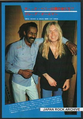 1977 Chuck Berry w/ Gregg Allman Brothers JAPAN mag photo pinup mini poster
