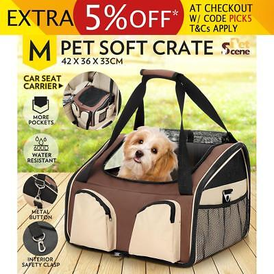 Pet Carrier Portable Soft Crate Dog Cat Car Booster Seat Foldable Cage Carry Bag